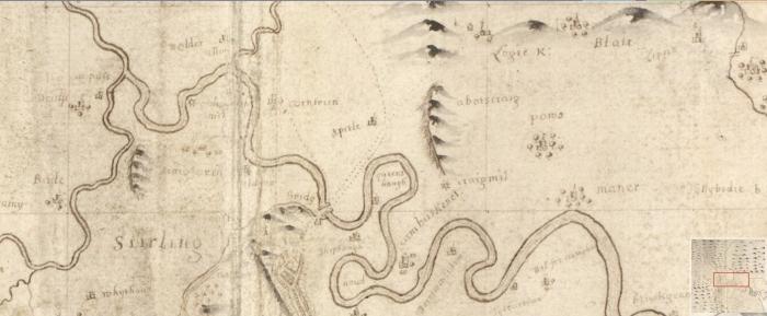 Cornton map
